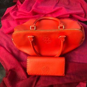 Tory Burch Marion Triple Zip Satchel + Wallet